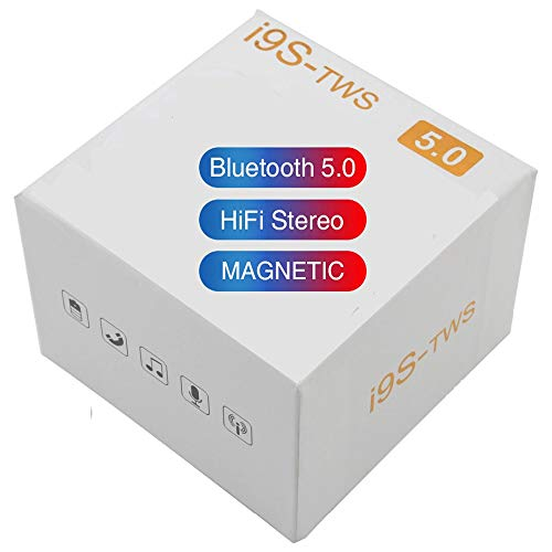 I9s TWS Auriculares Inalámbricos Bluetooth 5.0 For Auriculares Mini Auriculares con Micrófono De Carga Box Sport Auriculares For El Teléfono Elegante (Color : A1)