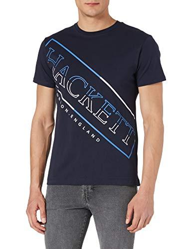 Hackett London Hackett Graphic Camiseta, 5ezdk Navy, XL para Hombre