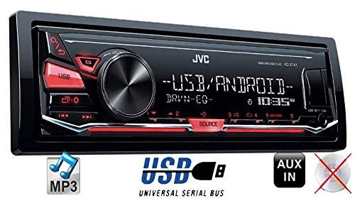 JVC-KD-X141-MP3-USB-Autoradio-Android-Steuerung-4x50Watt-Einbauset-fuer-FIAT-Punto-188-JUST-SOUND-best-choice-for-caraudio
