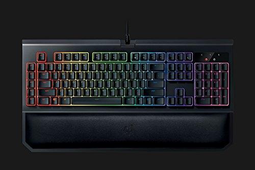 Razer BlackWidow Chroma V2 Esports Gaming Keyboard (Ergonomische Handballenauflage - 5 dedizierte Makrotasten - Razer Orange Switches (Taktil und Leise), DE Layout)