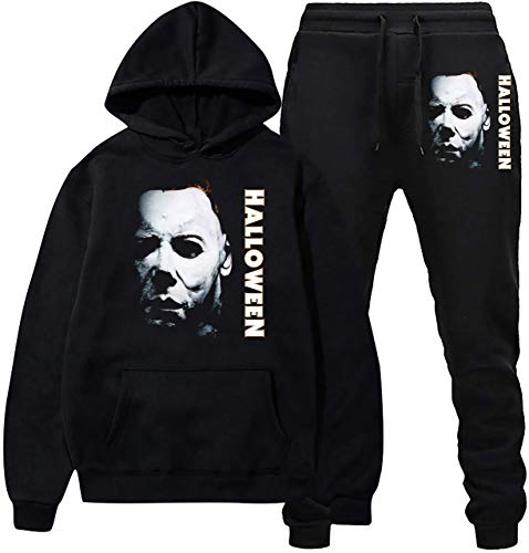 Halloween Michael M-yers sudadera con capucha y pantalones de deporte traje de...