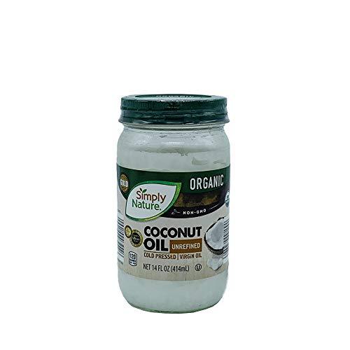 Simply Nature Organic Coconut Oil Unrefined, Cold Pressed, Virgin Oil 14 fl oz