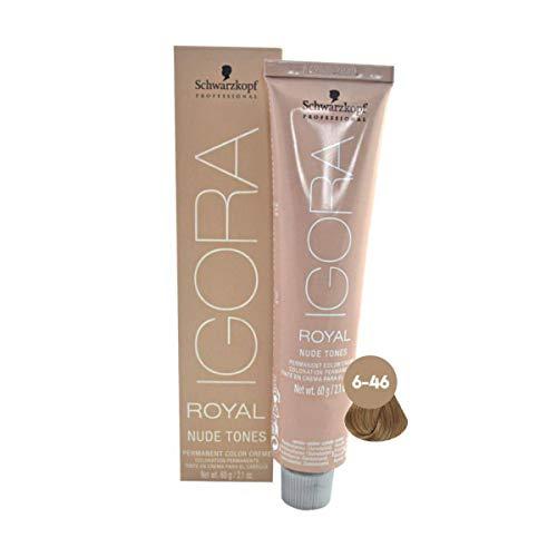 Schwarzkopf Professional Igora Royal Nude Tones Color Creme - 6-46 - Dark Blonde Beige Chocolate by Schwarzkopf Professional Igora Royal