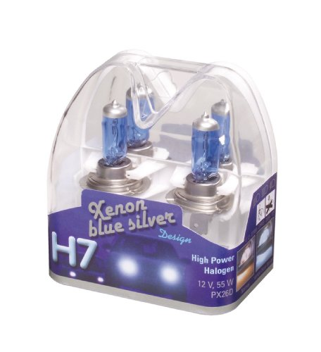 Unitec 77774 Hauptscheinwerferlampen H7 Xenon BlueSilver 12V 55W, 2er-Set