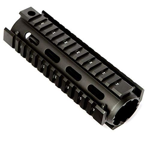 Lixia-Scope, 6,7 Pulgadas for AR15 M4 carabina AR15 Guardamanos Airsoft RIS Drop-in Quad Montaje del Carril de Picatinny táctico flotación Libre Guardamanos (Color : Negro)