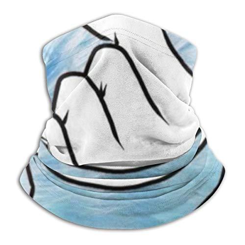 Finger Loving Heart Outdoor Kopfbedeckung Fleece Halswärmer Bequem Neck Gaiter Wärmer Gesichtsmaske Winter Schal für kaltes Wetter Winter Outdoor Sport