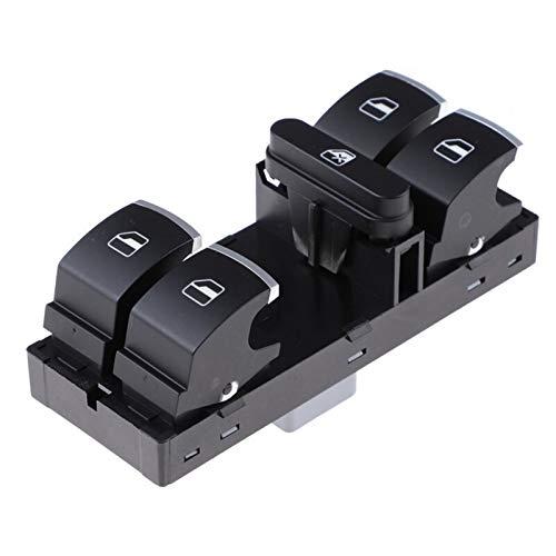 YJDTYM Interruptor de la Ventana de Potencia Izquierda/Ajuste para Volkswagen/Ajuste para Passat CC/Ajuste para Jetta Golf Conejo/Ajuste para Tiguan Seat Altea Ibiza Leon Toledo 3C8959857