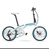 TYXTYX Bicicleta Plegable de Aluminio, 20 Pulgadas, 7 velocidades,Mini Compact City Bicycle para Transporte en Coche, autobús, caravanas