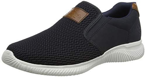 Rieker Herren Frühjahr/Sommer B7464 Sneaker, Blau (Navy/Amaretto/Pazifik 14), 43 EU