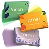 FOMIN 3-Pack Variety Foaming Hand Soap Sheets - Orange, Tea Tree, Lavender Paper Soap Sheets for Traveling - 300 Camping Soap Paper Sheets