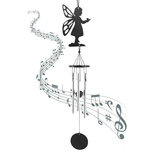 MoYouno Engel Windspiele für Garten, Memorial Windspiel, Sympathie Geschenk, Trauer Geschenk, Home Decor