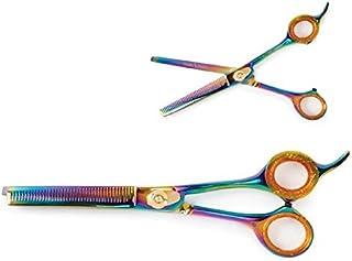 """Millers Forge Titanium Professional Blending Scissors 6.5"""" Rainbow"""