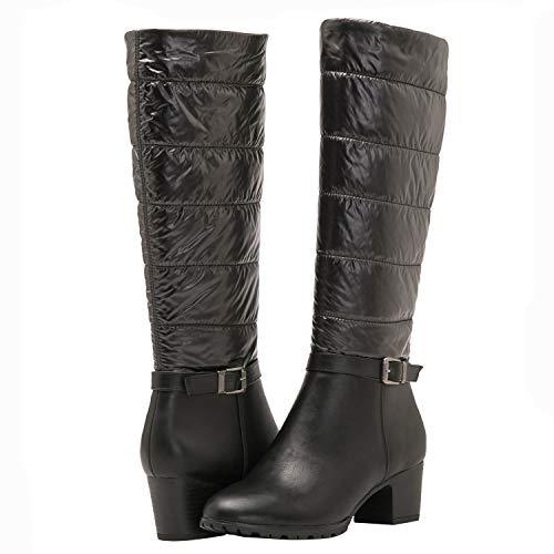 GLOBALWIN Women's Winter Knee High Mid Heel Boots Now $13.99  (Was $69.99)