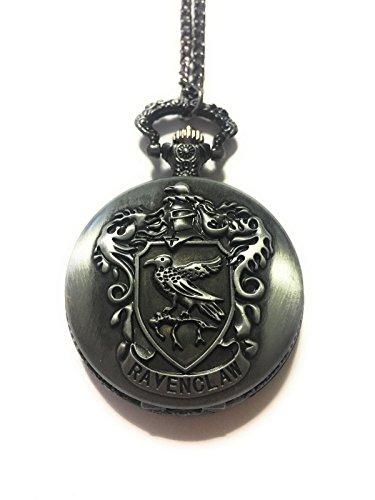 giulyscreations Collana Orologio Casa Corvonero Metallo Nichel Free Funzionante Ravenclaw Hogwarts H P Horcrux Saga Cosplay