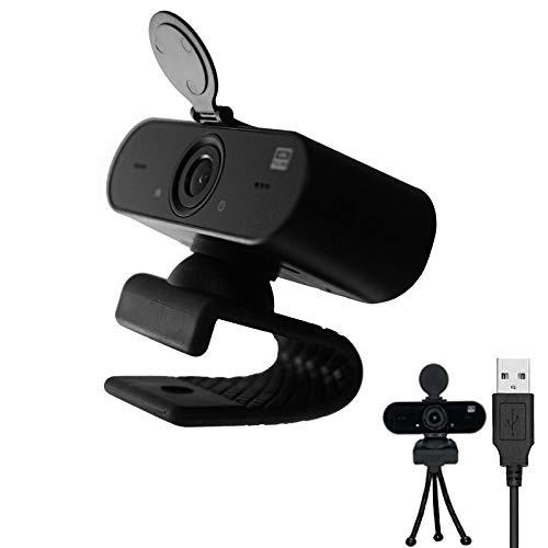 iEago RC Full HD Webcam 2K Webcam mit USB-Kabel Netz Kamera Eingebaut Mikrofon Webcam mit Schutzhülle für Windows XP / 7/8 / 10 / Vista/Mac OS für Online-Meeting/Fernunterricht/Video-Chat