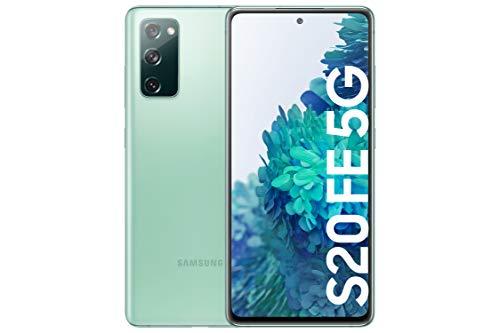 SAMSUNG Galaxy S20 FE 5G - Smartphone Android Libre, 256 GB, Color Verde [Versión española]