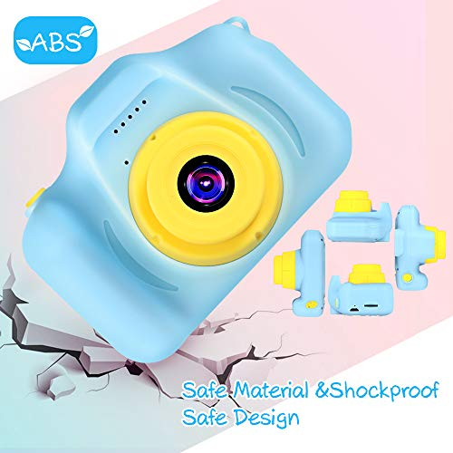 VATENIC Kids Toys for 3-1   0 Year Old Boys Girls, Kids Camera 1080P 2inch HD Children Digital Cameras for Girls Best Birthday Toys,Toddler Camera Gift for 3-9 Year Old Boy (with 32G SD Card) (Blue)