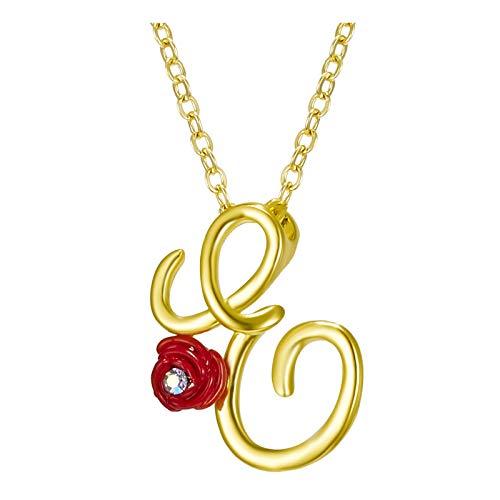 UINGKID Damen Halskette,Vergoldet Kette mit 26 Buchstabe,Personalisierte Anhänger Schmuck Kette,Charm Anfangsbuchstabe A bis Z,Alphabet Schmuck Geschenk