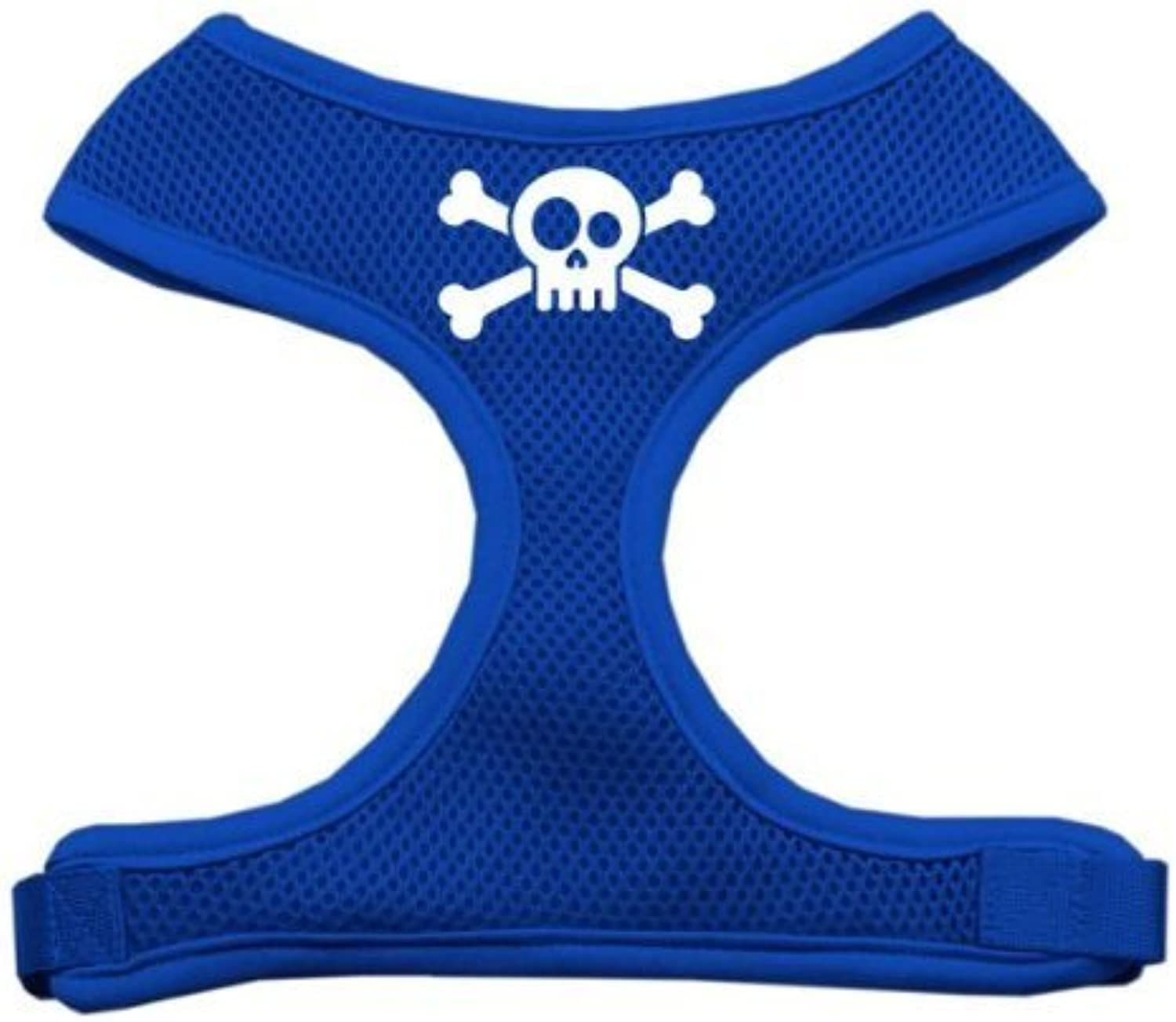 Mirage Pet Products Skull Crossbones Screen Print Soft Mesh Dog Harnesses, Medium, bluee by Mirage Pet Products