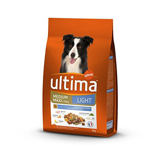 Ultima - Pienso para Perro Medio-Maxi Adulto Light Pollo, Cordero, arroz, Verduras y Frutas – 5 x 2 kg – Total: 10 kg