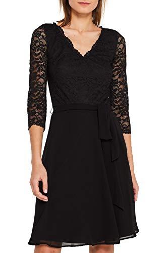 ESPRIT Collection Damen 109Eo1E006 Kleid, Schwarz (Black 001), Large (Herstellergröße: L)