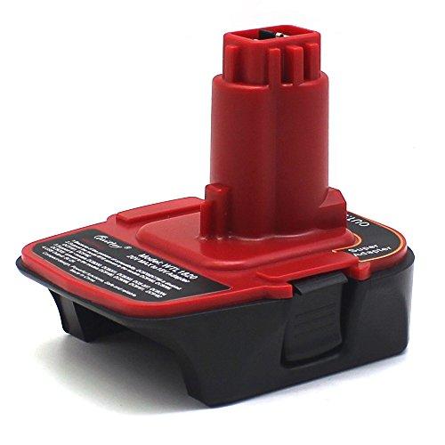 Waitley Battery Adapter for DeWalt DCA1820 18V-20V Converter with Compatible with DC9096 DC9180 Milwaukee M18 Battery to Dewalt 20V Tools