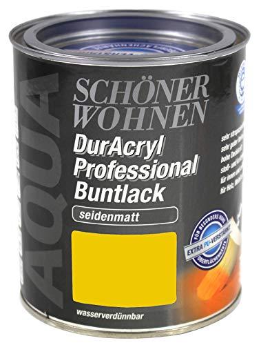 Schöner Wohnen Duracryl Professional Buntlack 0,75L Lack rapsgelb RAL 1021 sm