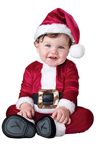 InCharacter Baby Santa Infant/Toddler Costume, Small (6-12) Red