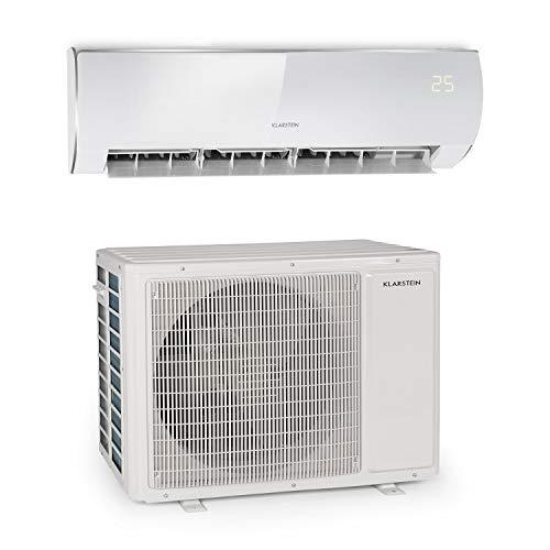 KLARSTEIN Windwaker Eco - Climatiseur Split, Chauffage et Refroidisseur, A++/A+, 5 Modes, 3 Modes Veille, écran LED, Télécommande, 24 000 BTU/h (1250m³/h) - Blanc