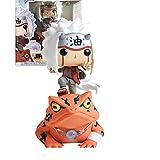 Pop Anime Naruto Shippuden Jiraiya On Toad 10Cm, Figura de acción de PVC con Caja, Juguetes de Modelos coleccionables para Regalo de niños