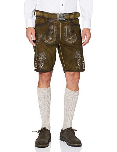 Stockerpoint Herren Hose Thomas2 Lederhose, Braun (Stein Geäscht Stein Geäscht), (Herstellergröße: 50)