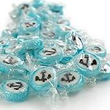 WeddingTree Anker Bonbons Blau - 500 g Rocks Bonbons handgewickelte Süßigkeiten Großpackung - Tisch Deko zu Hochzeit Taufe Valentinstag Muttertag Kommunion