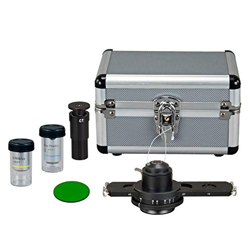 OMAX Darkfield and Brightfield Plan Phase Contrast Kit for Compound Microscopes