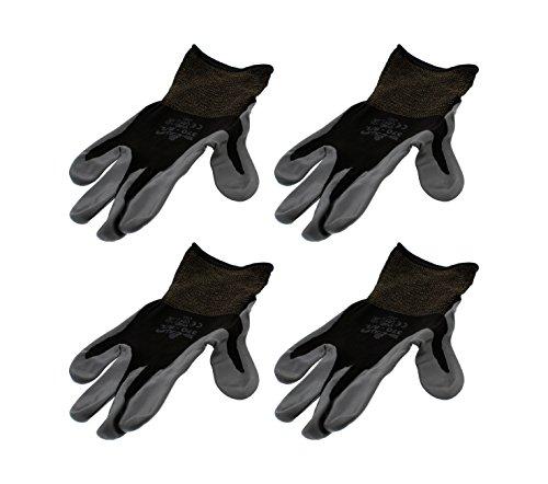 4 Pack Showa Atlas 370BBK Atlas Nitrile Tough Gloves - Large