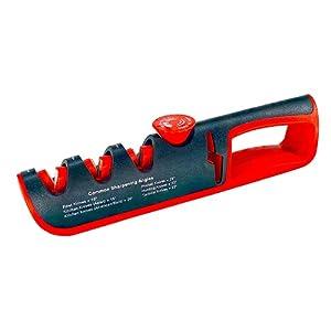 Wondsea Afilador de cuchillos de cocina, herramienta de afilado de 4 etapas, ayuda a restaurar, renovar, pulir recto para cuchillos y tijeras