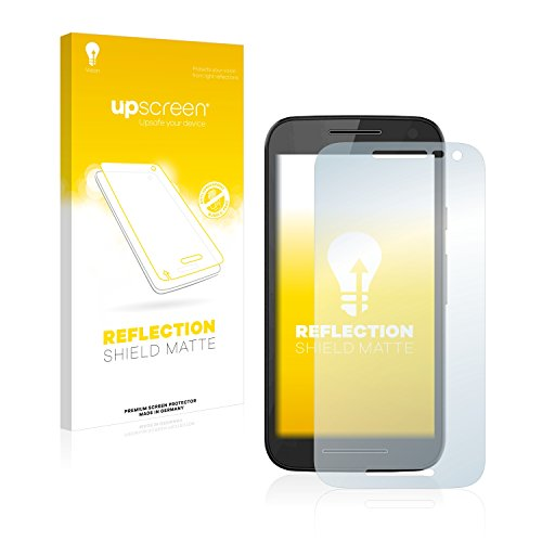 upscreen Entspiegelungs-Schutzfolie kompatibel mit Motorola Moto G3 / G 3. Generation – Anti-Reflex Bildschirmschutz-Folie Matt