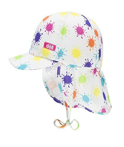 Döll Baby-Mädchen Bindemütze mit Schirm und Nackenschutz Sonnenhut, Rosa (Beetroot Purple|Pink 2420), 47