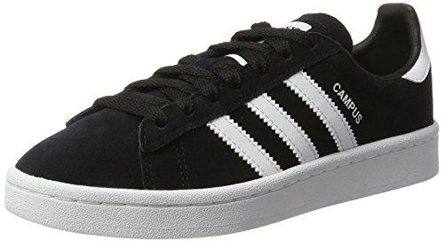 adidas Campus J By9580, Baskets Basses, Noir (Core Black/Footwear White/Footwear White), 35.5 EU
