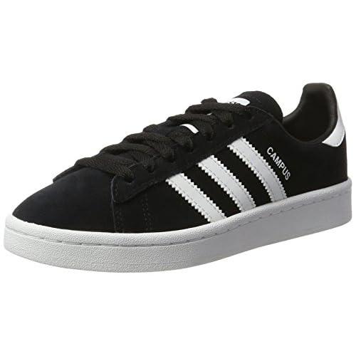 adidas Campus J, Scarpe da Ginnastica Basse Unisex-Bambini, Nero (Black By9580), 35.5 EU