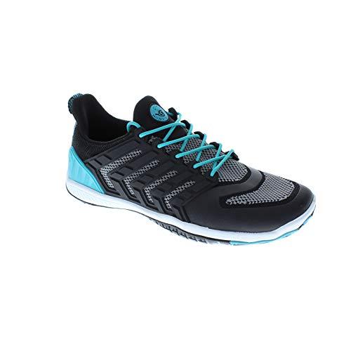 Body Glove Women's Dynamo Ribcage Water Shoe, Black/Oasis Blue, 8
