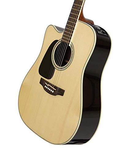 Takamine GD51CE LH NAT Left-Handed Dreadnought Cutaway Acoustic-Electric Guitar, Natural