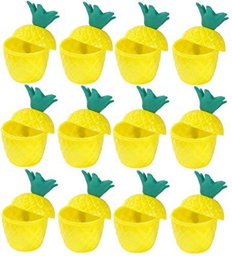 Quickdraw 12 X Hawaii Tropische Luau Tiki Plastik Party Ananas Punch Trinkbecher