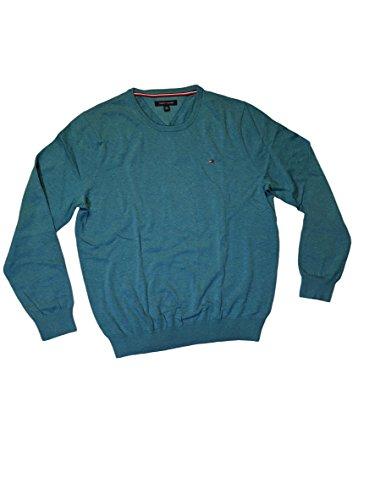 Tommy Hilfiger - Suéter de cuello redondo para hombre, S