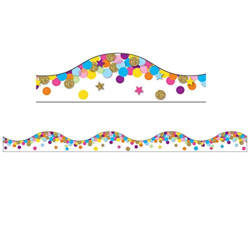 Ashley Productions ASH11421BN Magnetic Scallop Border, 12' x 1', Confetti, 5 Packs