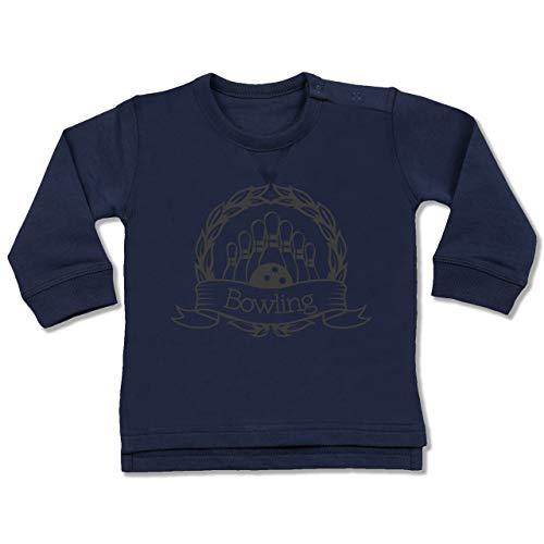 Sport Baby - Bowling Lorbeerkranz - 12/18 Monate - Navy Blau - Geschenk - BZ31 - Baby Pullover