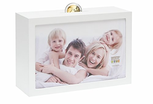 Deknudt Frames S66RR1 fotolijst met spaarpot-functie, hout, 10 x 15 cm, wit