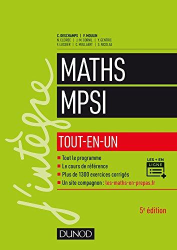 Mathématiques MPSI : Tout-en-un (Concours Ecoles d'ingénieurs)