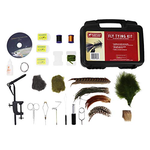 Scientific Anglers Deluxe Fly Tying Kit with Vise, Materials, Tools, Hooks, and Instructional DVD in Travel Case