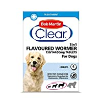 EFFECTIVE TREATMENT - Provides effective treatment against: Roundworms, Tapeworms, Hookworms and Whipworms SMALL, MEDIUM and LARGE DOGS - For dogs up to 40 kg. Also suitable for puppies over 3 kg at 2 weeks of age HOW TO USE - Give one tablet per 10k...