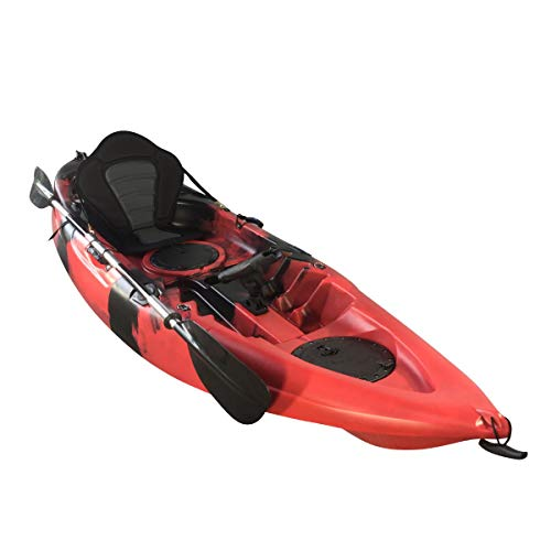 Cambridge Kayaks ES, Zander Rojo Y Negro Solo Kayak DE Pesca Y Paseo, RIGIDO,